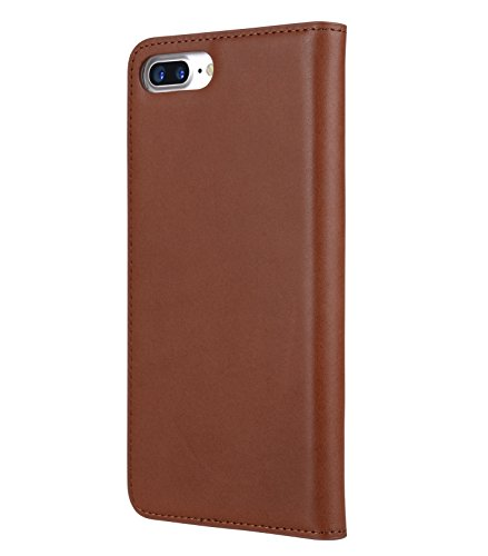 Apple Iphone 7 Melkco Cuir de vachette Premium Herman Series Housse de style livre avec cuir de qualité supérieure Fabriqué à la main Bonne protection, Premium Feel-Orange Brown Brown 1