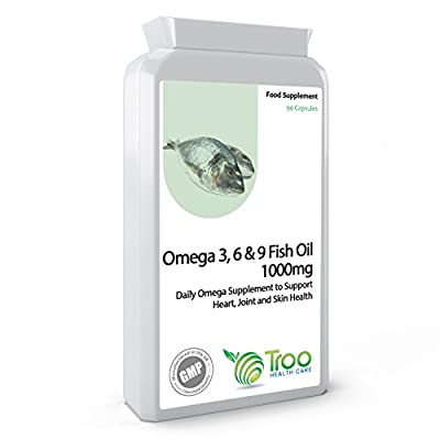 Omega 3, 6 & 9 Fish Oil 1000mg 90 Capsules - Rapid Release Supplement for Effective Health Support