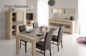parisot salle manger 7 pi ces chris 3 salle manger 7 pi ces dans la couleur ch ne sonoma. Black Bedroom Furniture Sets. Home Design Ideas