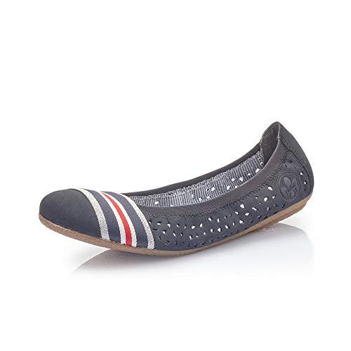 Rieker Mujer Bailarinas, Merceditas 41455, señora Bailarinas Clásicas,Calzado de Verano,Slip-on,Calzado...