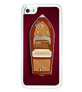 Fuson Designer Back Case Cover for Apple iPhone 5c (speed boat motor boat seat stering )