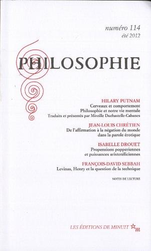 Philosophie, N° 114, été 2012 :