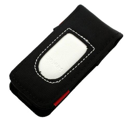 Zignum Handy MP3 Player Tasche Hülle Nylon wasserabweisend schwarz