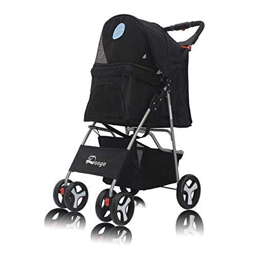 WZB - Wheelchair Leichter Kinderwagen, Hundewagen Vierrädriger Haustierwagen für Haustiere -