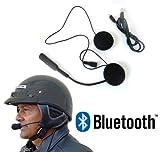 Microfono Auricolari Bluetooth Impermeabile Per Casco Moto Scooter Chiamate Mp3 immagine