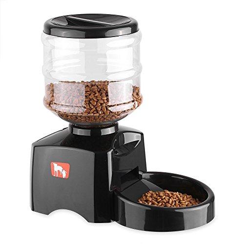 Anself alimentatore automatico pet per gatto cane 5.5 l display lcd cibo secco elettrico dispenser piatto ciotola 1-3 pasti/giorno