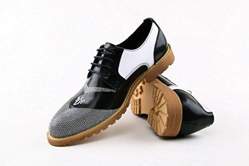 Minitoo , Chaussures à lacets homme Blanc - Noir/blanc