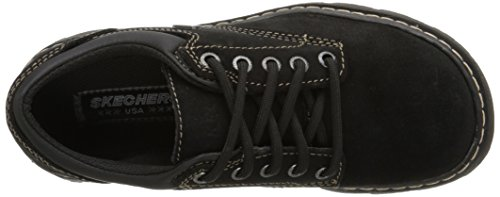 Skechers Parties-mate Oxford Shoe Black Suede Leather