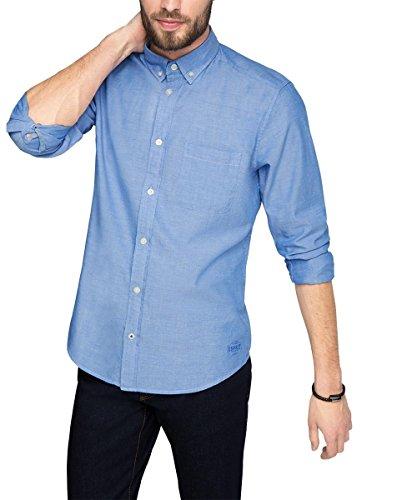 Esprit 026ee2f002-Oxford, Chemise Homme Bleu (LIGHT BLUE 440)