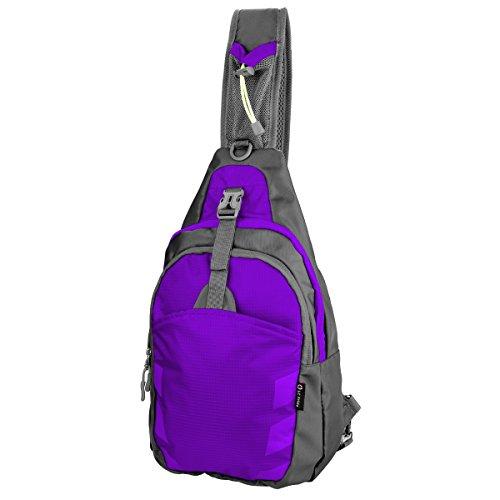Sling Bag Chest Shoulder Unbalance Gym Fanny Backpack Sack Satchel Outdoor Bike