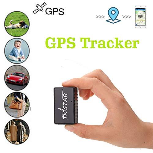 TKSTAR Mini GPS Tracker, Magnet Mini GPS Ortung Anti Theft Echtzeit GPS Locator für Handtasche Brieftasche Taschen Schulranzen Wichtige Dokumente Verloren Auto Finder Tracker TK902 Schwarz
