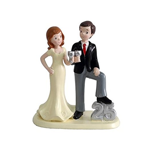 Cake figure 25 anniversary, silver wedding