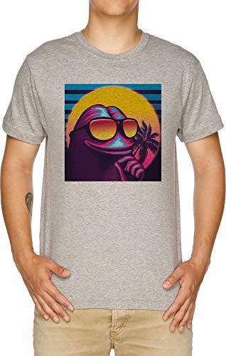 99535606e2754 Vendax Rare Dépasser Pepe Le La Grenouille T-Shirt Homme Gris