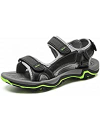 69f545c9c2a0 FuweiEncore Première Couche de Sandales en Cuir pour Hommes Chaussures  Confortables et Respirantes pour Hommes Sandales