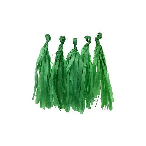 Archiba 5Pcs 35cm Seidenpapier Quaste Garland Blumen für Geburtstag Hochzeit Dekoration Baby Shower Hanging Bunting Bastelbedarf, PT18 Kelly Green Kelly Green Band