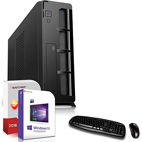 Multimedia/Office PC mit TFT Intel Quad Core J1900 4x2,42GHz|24 Zoll Monitor|8GB DDR3|256GB SSD|Intel HD Graphics HDMI|DVD-RW|USB 3.0|SATA3|Windows 10 Pro|3 Jahre Garantie Dvdrw Intel Hd Graphics