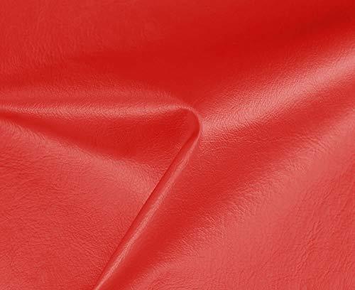 HAPPERS 1 Metro de Polipiel Especial Exterior para tapizar, Manualidades, Cojines o forrar Objetos. Venta de Polipiel por Metros. Diseño Náutica Color Rojo Ancho 140cm