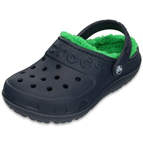 Clo Crocs Crianças Unissex Hilo Alinhada Entope Azul-escuro