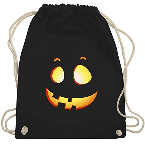 Halloween-Kuerbis Kinder - Unisize - Schwarz - WM110 - Turnbeutel & Gym Bag ()