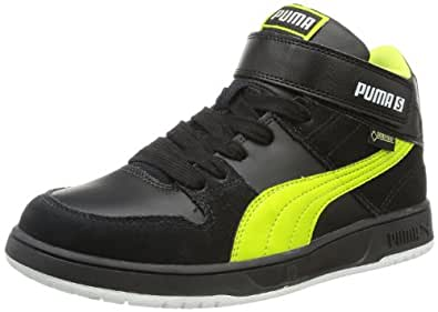 Puma Grifter Mid GTX® Jr 354421, Unisex-Kinder Sneaker, Schwarz (black-lime punch 02), EU 38 (UK 5) (US 6)