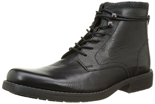 Clarks Ashburn, Stivaletti Uomo, Nero (Black Leather), 43 EU