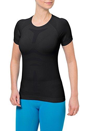 Klasse Damen Light T-shirt (VAUDE Damen T-shirt Seamless Light schwarz, 6)
