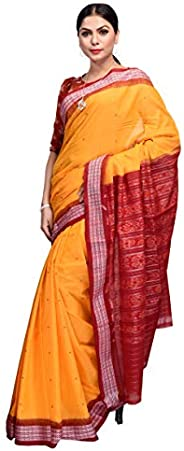 Utkalamrita Nuapatna Handloom Traditional Women's Cotton Saree (Multi-Colou