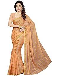 Ishin Saree With Blouse Piece (Ishin-24048Srk_Orange _One Size)