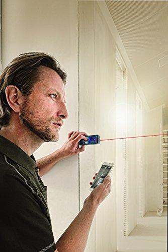 Bosch Professional GLM 50 C Laser-Entfernungsmesser (Messbereich 0,05-50 m, Bluetooth Schnittstelle für Apps (iOS, Android), drehbares Farb-Display, Schutztasche, IP54 Staub- und Spritzwasser-Schutz) 0601072C00 - 7