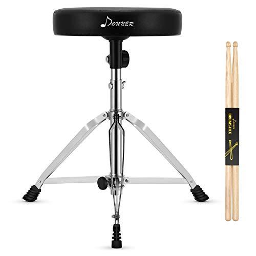 Drumhocker Höhenverstellbar, Donner Schlagzeughocker mit Ahorn Holz