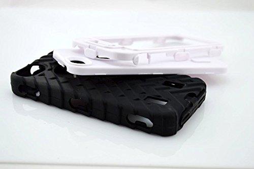 Iphone 5S Coque,Lantier Tire Conception fraîche de la série 3 en 1 Heavy-Duty Dual Layer Soft Touch Housse de protection avec boîtier intérieur dur PC pour Apple Iphone 5S Noir Tire White