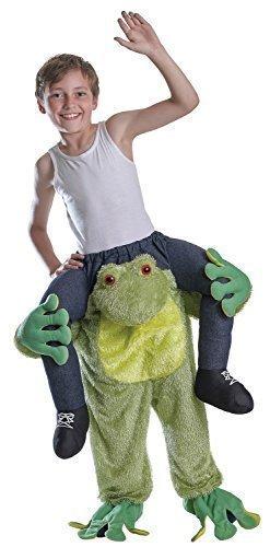 Jungen oder Mädchen Schritt Darauf reiten Schweinchen Rücken Animal Büchertag Halloween Kostüm Kleid Outfit - Frosch, One Size