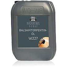 BALSAMTERPENTINÖL NATURTERPENTINÖL - 5L Typ: WO-WE W227 | natürlicher Verdünner für Ölfarben und Harze | Fettfleckenentferner