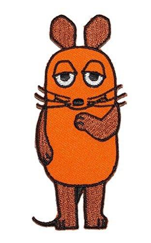 alles-meine.de GmbH die Sendung mit der Maus 4,4 cm * 9,6 cm Bügelbild Aufnäher Applikation Mäuse orange Tier Tiere