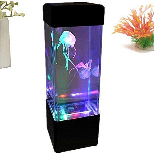 Kreative bunte LED-Quallen-Tank, LED Fantasy Quallen Lampe elektrisch Aquarium Farbwechsel LED Lichter entspannend Stimmungs-Licht von Play, für Festivals Home Decor Free Size Colorful Light