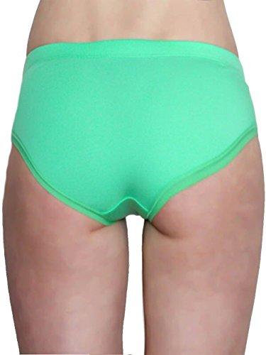 Damen Hipster Slip Bio-Baumwolle GOTS Hotpants Panties Unterhosen Unterwäsche 5 Farben grün mit Schleife