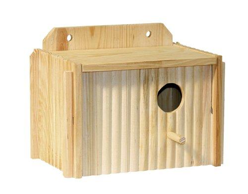 Caja nido para periquitos 21 x 13 x 13 cm