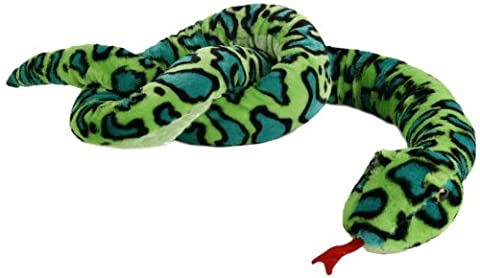 Schlange Boa aus Plüsch grün