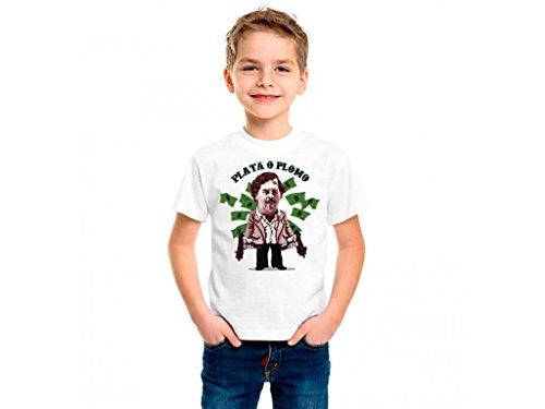 camiseta-pablo-escobar-plata-o-plomo-infantil-5-6-blanco