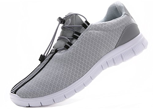 Juan Herren Laufschuhe Mode Breathable Sneakers Mesh Soft Sole Casual Athletic Leicht(MEN, 46EU / 12US, Grau) (Schuhe Grau Herren)