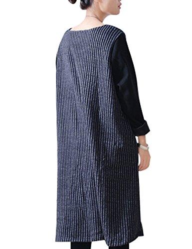Youlee Donna Collare rotondo Taglia grossa Vestito da Jumper Stile 2