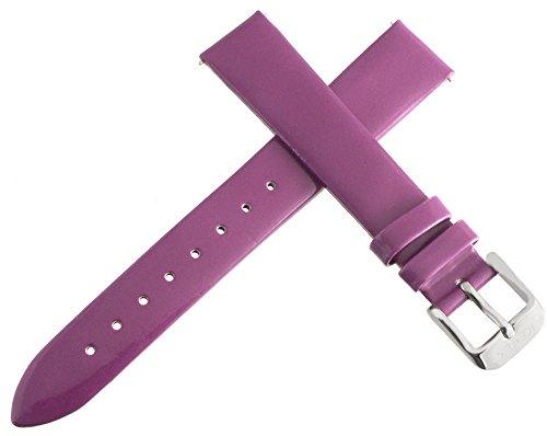 Ice Tek Damen Lila Patent Leder Uhrenarmband silber Ton Schnalle 16mm