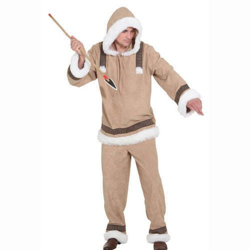 Eskimo Mann de Luxe : Oberteil und Hose, (Eskimo Kostüm)