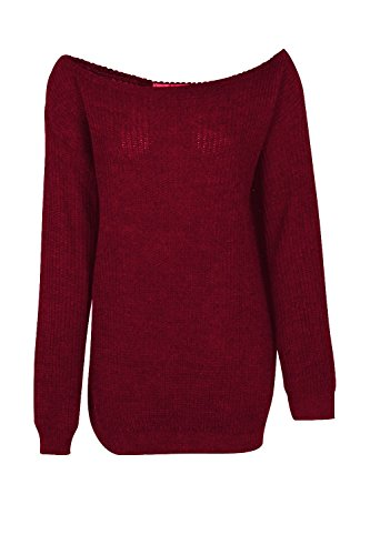 Janisramone - Pull - Pull - Manches Longues - Femme * taille unique Bordeaux