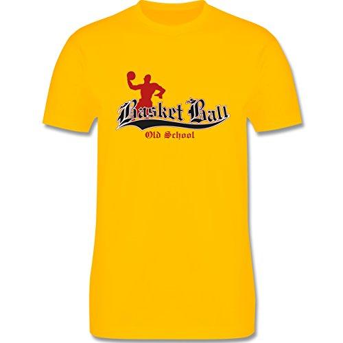 Basketball - Basketball Old School - Herren Premium T-Shirt Gelb
