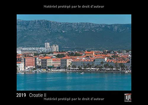 Croatie II 2019 édition noire calendrier mural timokrates calendrier photo calen