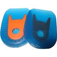 Schuh-Geleinlagen/Schuh-Gelpolster/Schuh-Gelfersenkissen, 2er Pack (Fersenkissen blau-orange) preisvergleich bei billige-tabletten.eu