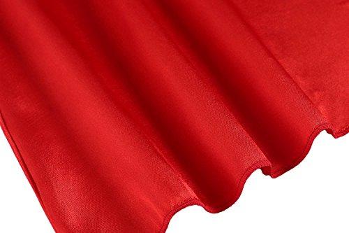 Avidlove Damen Sexy Transparant Nachtkleid V-Ausschnitt Ärmellose Negligee mit Verstellbaren Träger A Rot