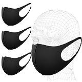 Lot de 3 Masques Anti-poussière Anti-poussière - Masque Anti-poussière - Masque de Protection réutilisable - Anti-Virus lavables en extérieur - Unisexe