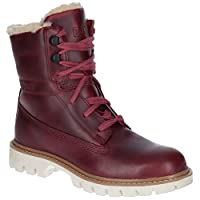 Caterpillar Basis Fur Womens Other Leather Material Ankle Boots Dark Red - 5 UK
